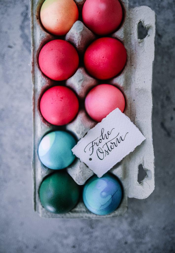 gefärbte ostereier wasserfarben dyed easter eggs jeannette mokosch