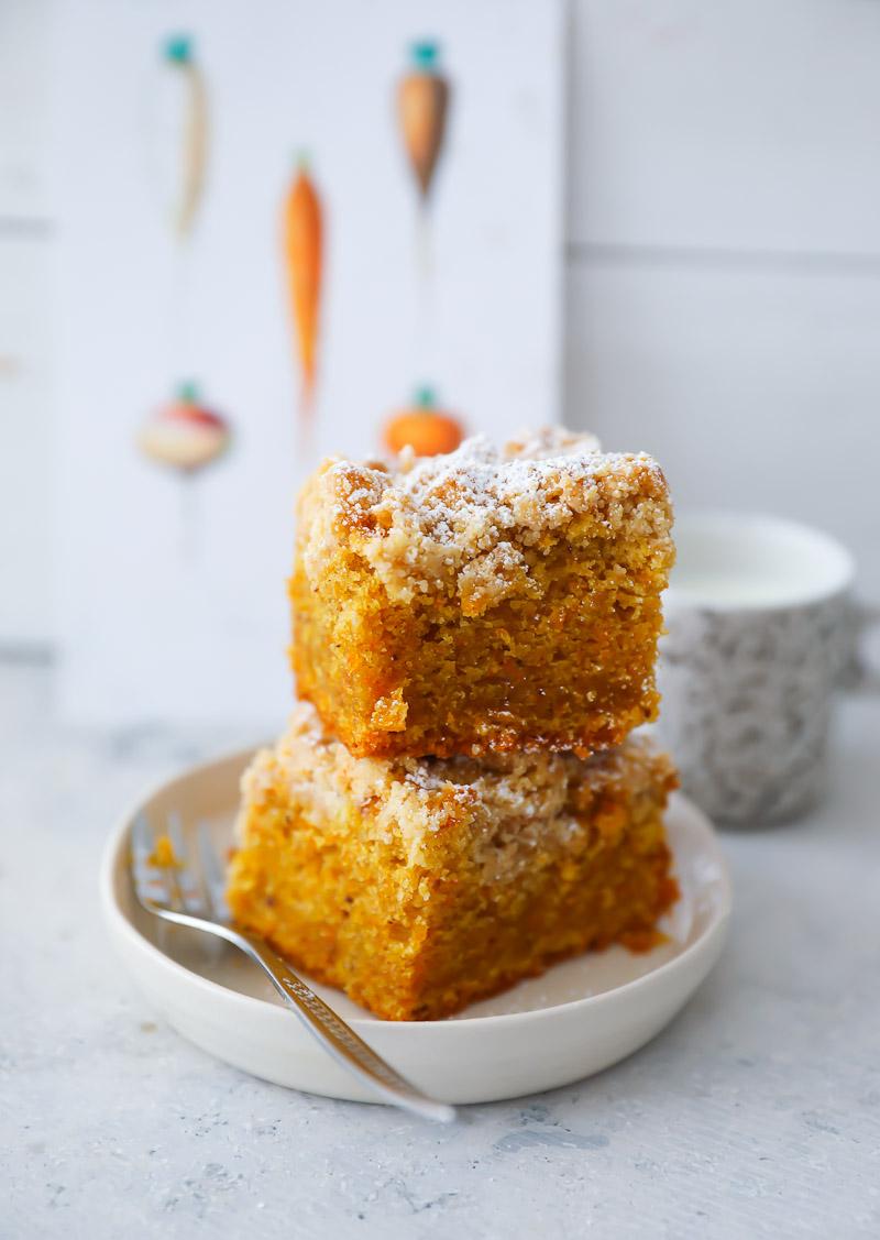 Streusel Carrot Cake Back Rezept Zucker Zimt Und Liebe