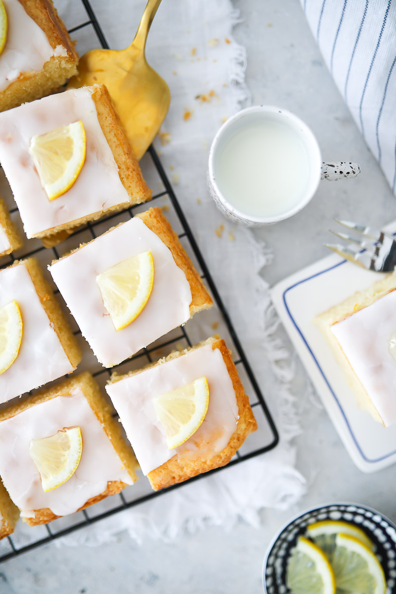 Zitronenkuchen Vom Blech Rezept Zucker Zimt Und Liebe