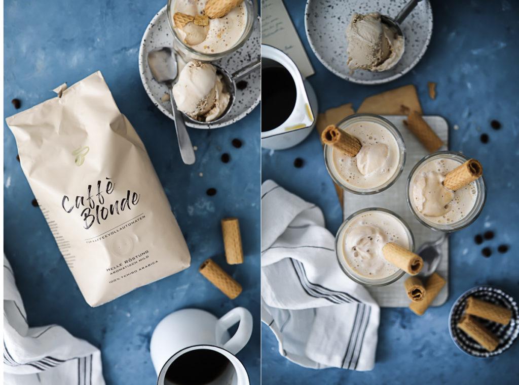 Affogato Rezept Eis mit Kaffee Eiskaffee Tchibo Caffè Blonde zuckerzimtundliebe sommergetränk Dessert zuckerzimtundliebe Foodblog Backblog how to make affogato