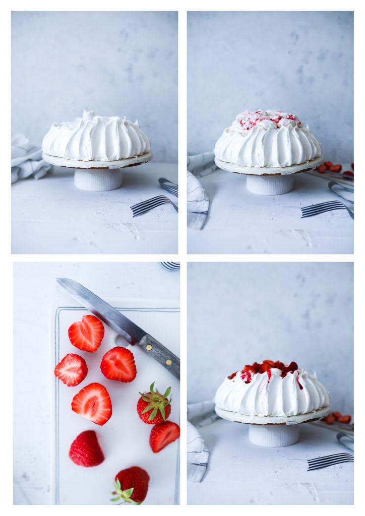 Einfaches Pavlova Rezept Dessert Backen Eiweiß Baiser wie backt man pavlova foodstyling food photography zucker zimt und liebe foodblog backblog