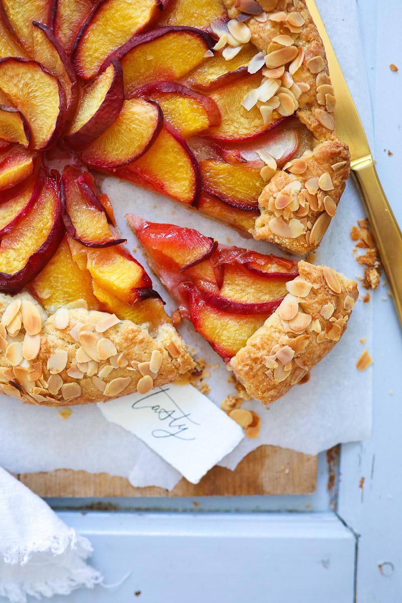 Rezept Fur Einfache Pfirsich Tarte Als Galette Ein Fabelhafter