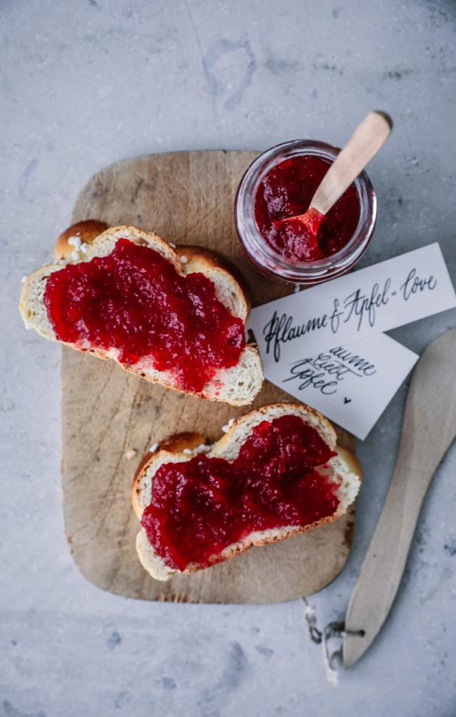 Pflaume Apfel Marmelade Marmeladenrezepte Konfitüre 3:1 Diamant Gelierzucker Pflaumenmus selber machen canning apple plum jam recipe zuckerzimtundliebe foodblog foodstyling
