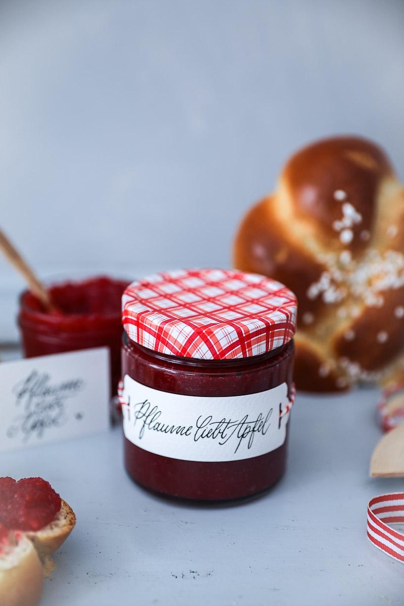 Rezept Apfel Pflaumen Marmelade Zucker Zimt Und Liebe