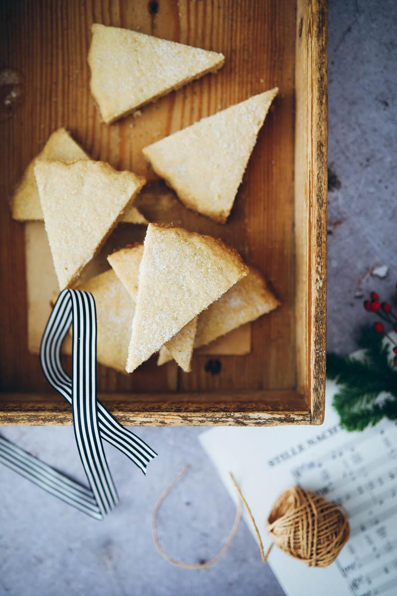 Weihnachtsgebäck Verpacken.Weihnachtsplätzchen Shortbread Zucker Zimt Und Liebe