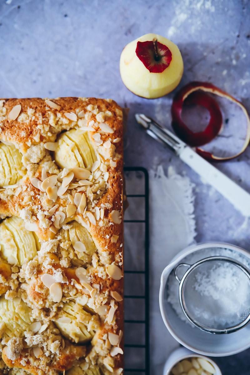 Versunkener Apfelkuchen Vom Blech Zucker Zimt Und Liebe