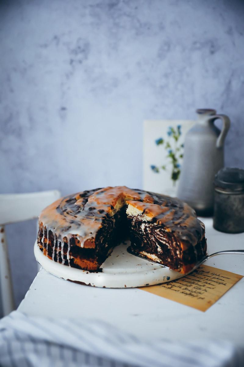 Zebrakuchen Mit Orangenglasur Zucker Zimt Und Liebe