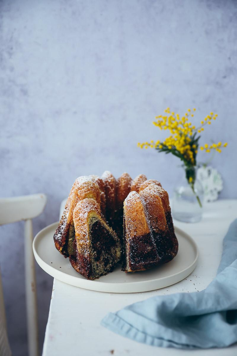 Ein Rezept Für Dreifachen Mohn Schoko Marmorkuchen Gugelhupf Und Ein