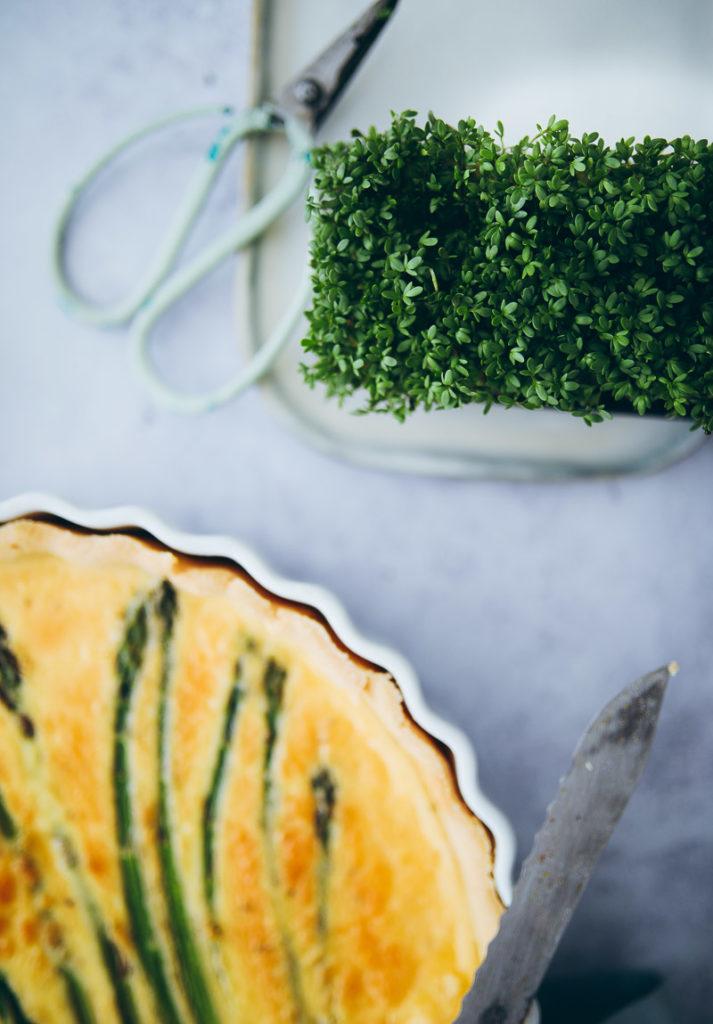 Spargel Tarte Quiche spargelrezepte grüner spargel asparagus tart recipe mittagessen rezept einfaches rezept foodstyling foodstylist foodblog zuckerzimtundliebe cookfeed food52