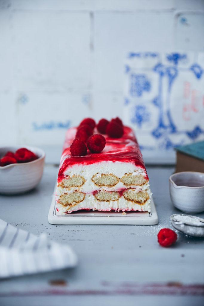 Himbeer Tiramisu Semifreddo Rezept raspberry tiramisu recipe eisrezept sommerrezept himbeereis himbeer rezept nicecream no churn ohne eismaschine