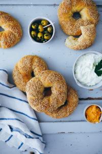 Rezept für Koulouria: griechische Sesamringe