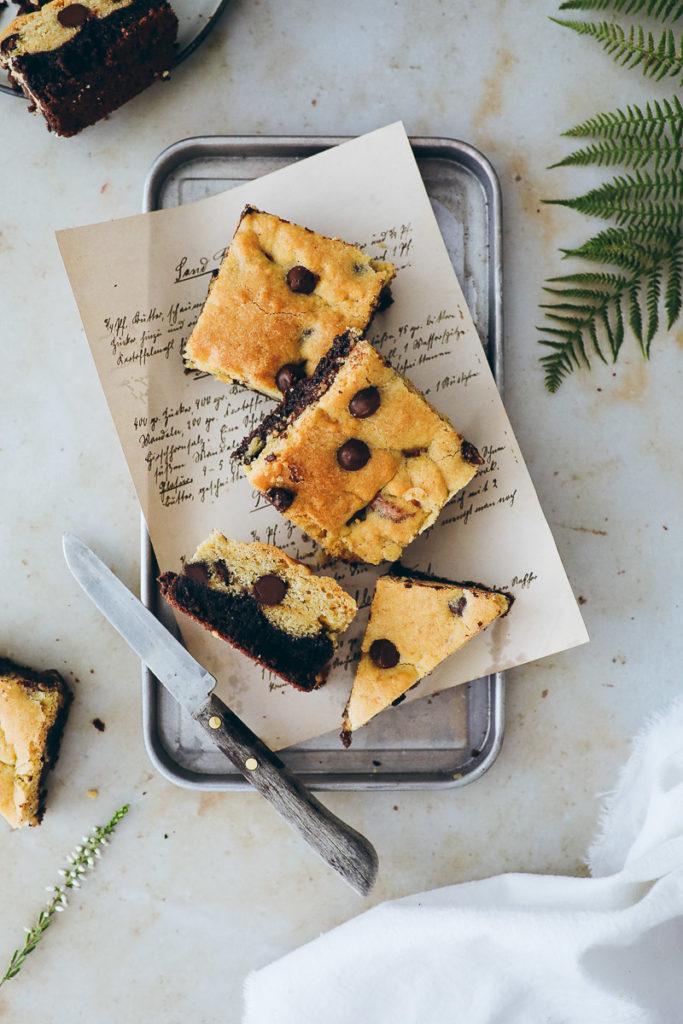 Brookies Rezept Brownie Cookie selber backen recipe bakefeed zuckerzimtundliebe foodstyling food photography keksteig cookie teig bester brownie backblog