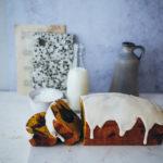 Kürbisbrot Kürbiskuchen Pumpkin bread zimtglasur cinnamon glaze marble cake marmorkuchen einfacher kastenkuchen zuckerzimtundliebe food styling food photography bakefeed loaf cake fall baking backen im herbst