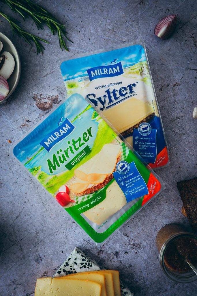 Käse für Raclette Milram Müritzer Sylter