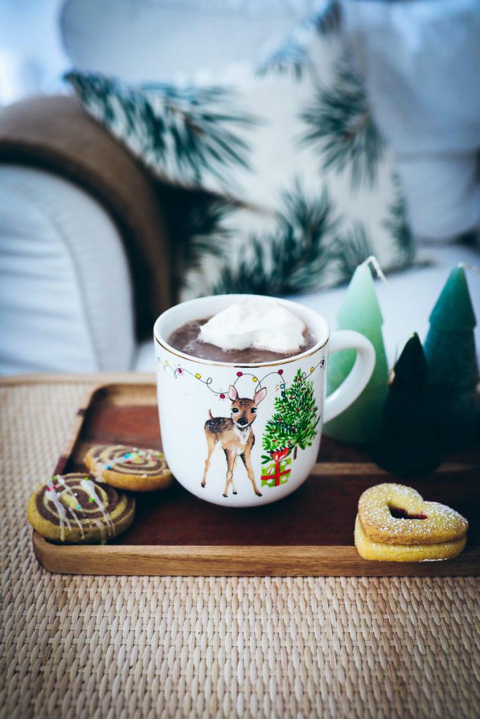 Tchibo Weihnachten weihnachtstisch weihnachtsteller zuckerzimtundliebe hot chocolate