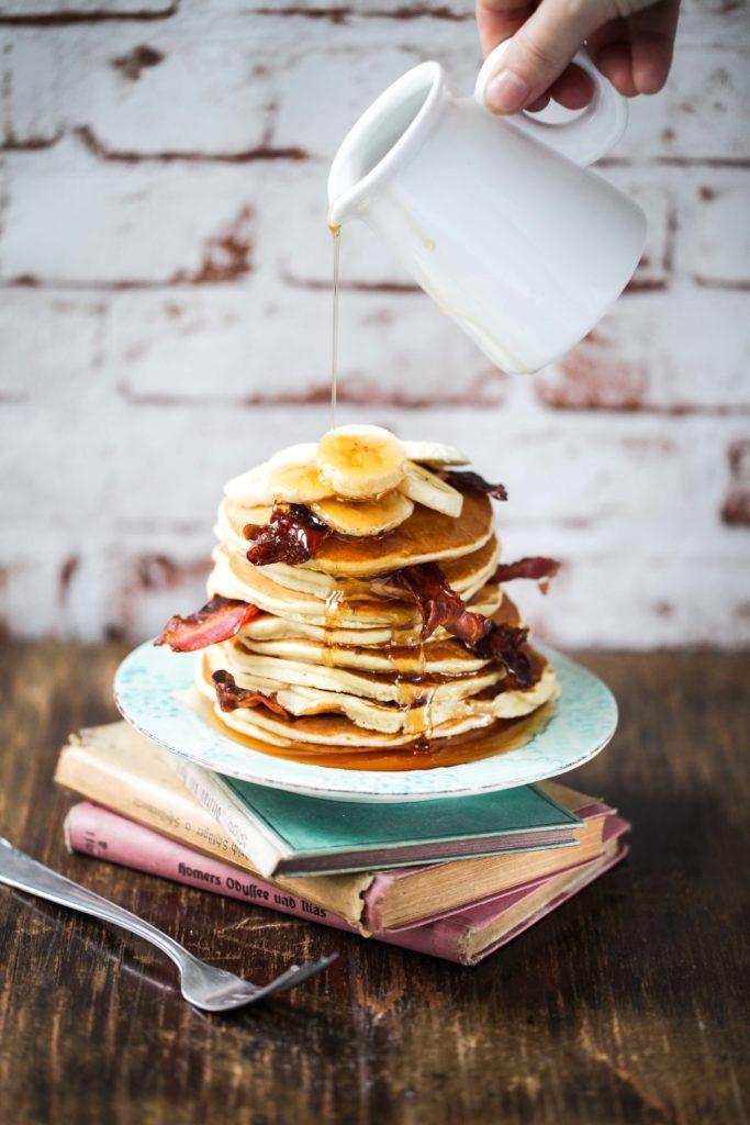 Bananen Erdnussbutter Pancakes Elvis Rezept