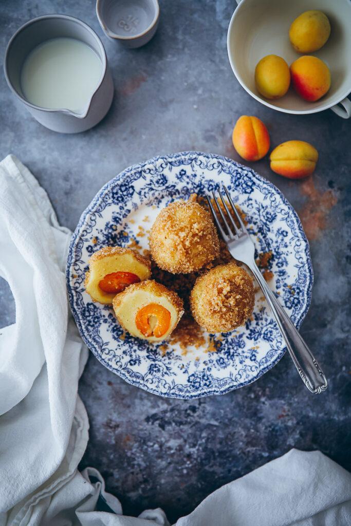 Marillenknödel Marzipan apricot dumplings rezepte aus südtirol meetmerano alpen rezepte foodstyling food photo zuckerzimtundliebe food 52 bakefeed feedfeed Meraner Land