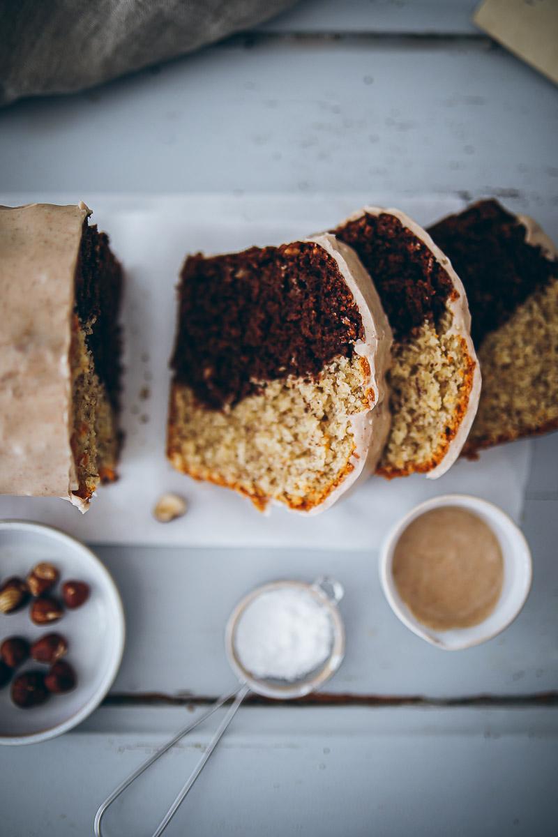 Rezept für Nuss-Marmorkuchen mit Zimtguss - ein Klassiker