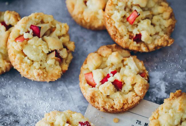 Apfel Streusel Cookies Rezept apple streusel kekse apfelrezepte backen im Herbst foodstyling food photography zuckerzimtundliebe